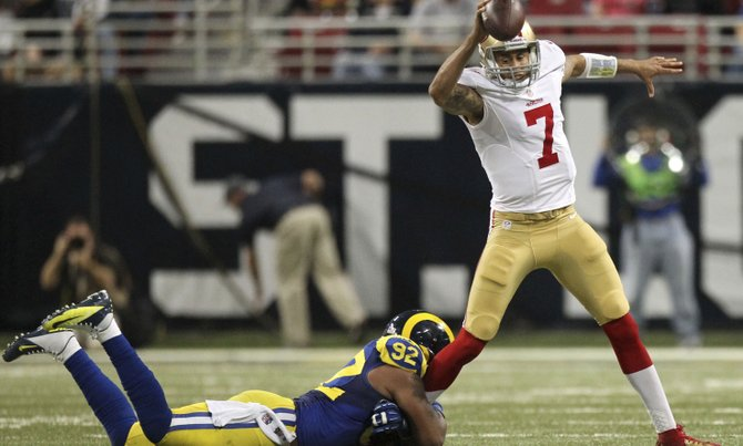Colin Kaepernick has taken the QB job away from Alex Smith, who was completing 70 percent of his passes. Anthony Anderson, a 49ers fan, shares his view on the issue.