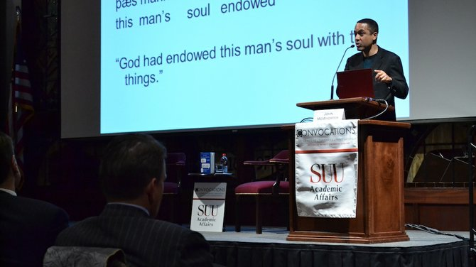 John McWhorter, author and renowned linguist spoke at the first Convocation for Spring semester Tuesday morning.