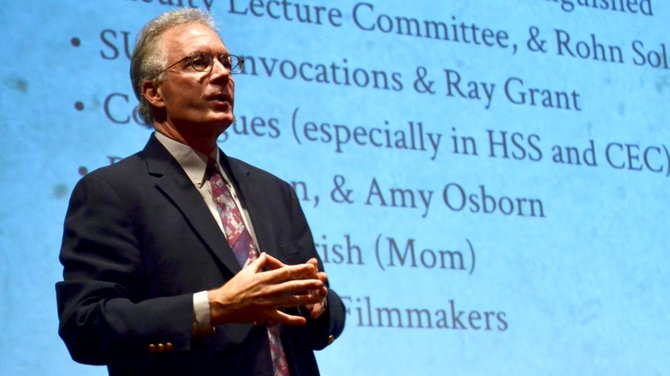 "Earl Mulderink, a professor of history, gave the ""Distinguished Faculty Honor Lecture"" for the first convocation for the 2013-2014 academic year. His lecture was titled ""America's Civil War: Hollywood vs. History."""