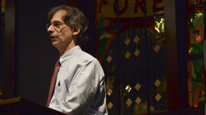 Alfie Kohn, distiguished author and lecturer, spoke for the Grace Adams Tanner Lecture in Human Values Tuesday in the Hunter Conference Center.
