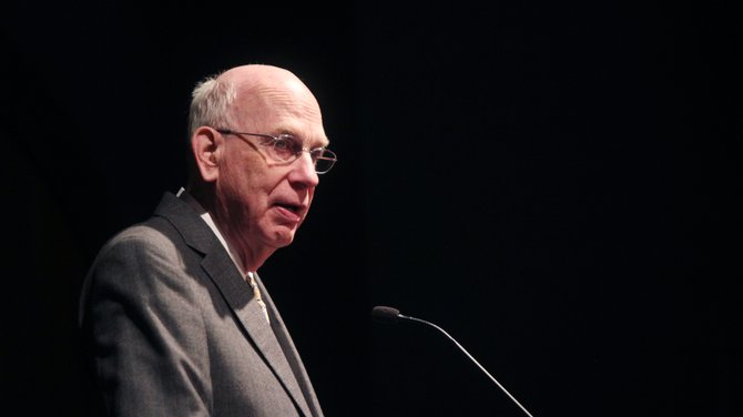 Robert Bennett, former Utah state senator, gave this year's Howard R. Driggs Memorial lecture for the Convocation Tuesday afternoon in the R. Haze Hunter Conference Center.