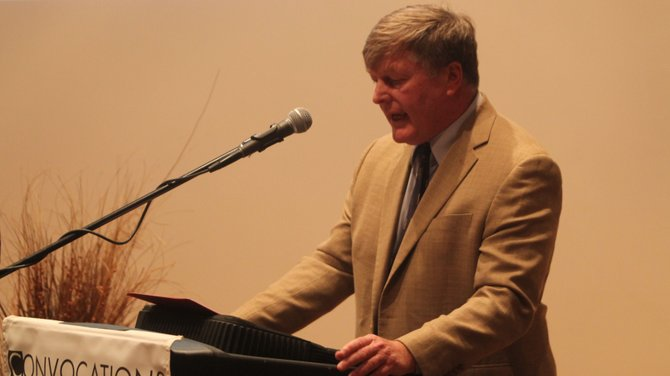 C. Bradly Thompson executive director of the Clemson Institute for study of capitalism spoke at convocation on Friday.