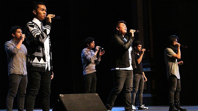 The Filharmonic, a Filipino-American a cappella group from from Los Angeles, performed Friday night for the students of SUU in the Auditorium Theatre.