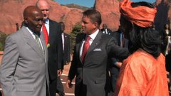 Abdoulaye Wade, President of Senegal, spends some time at Southern Utah University.